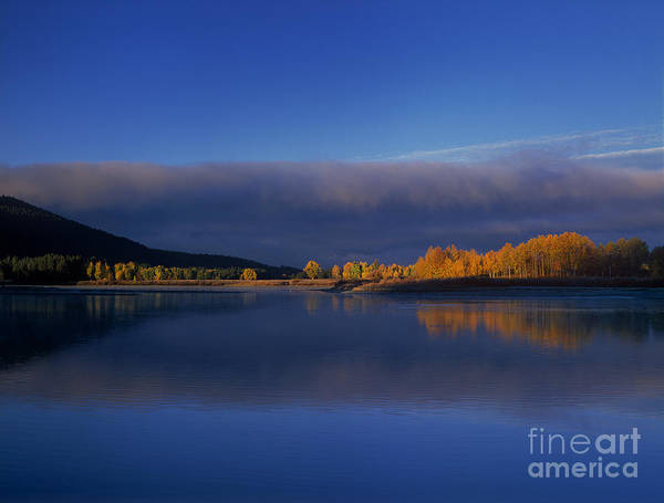 Photograph - Fall Clearing Storm Oxbow Bend Grand Tetons National Park Wyoming by Dave Welling