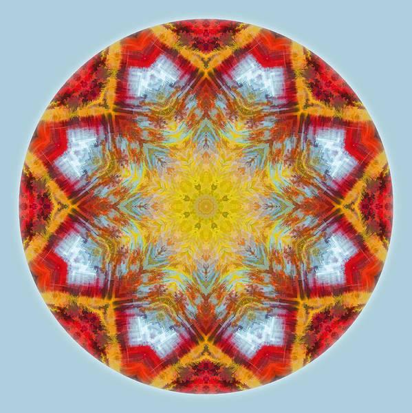 Photograph - Fall Colors Mandala 1 by Beth Sawickie