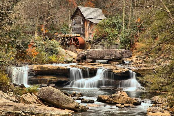 Photograph - Fall Colors At Babcock State Park by Adam Jewell