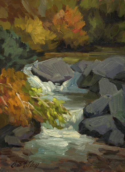 Sierra Nevada Painting - Fall Colors At Bishop Creek by Diane McClary
