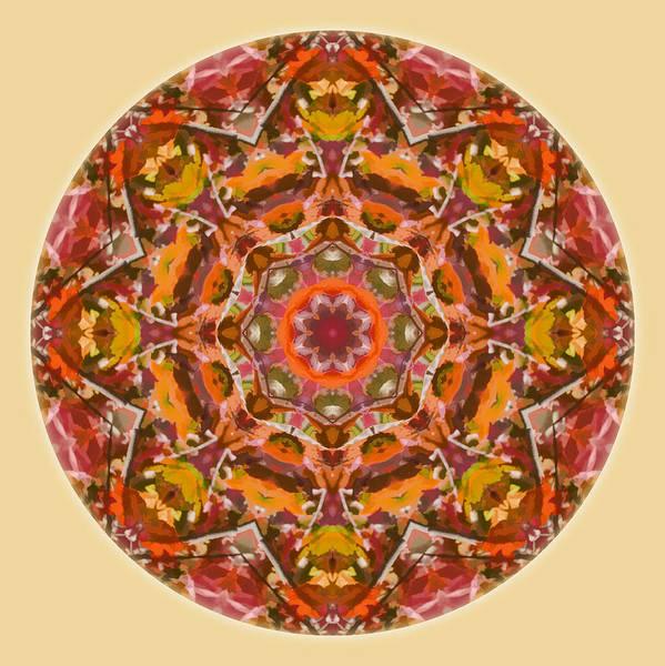 Digital Art - Fall Colors Mandala 2 by Beth Sawickie