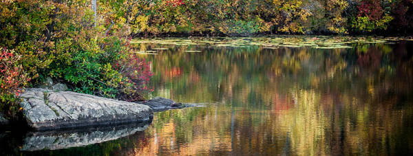 Photograph - Fall Colors On Ramapo Lake by Jim DeLillo