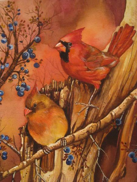 Wall Art - Painting - Fall Companions by Cheryl Borchert