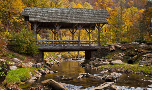 Photograph - Fall Covered Bridge by Rick Hartigan