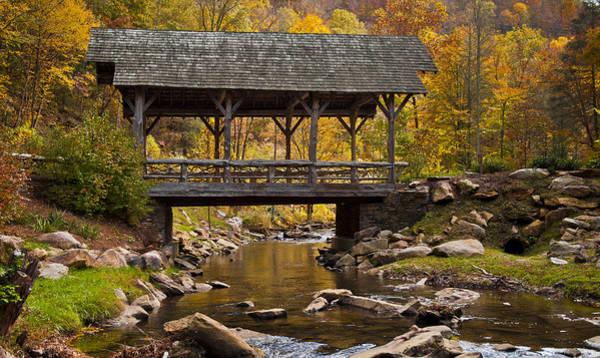 Fall Covered Bridge Art Print