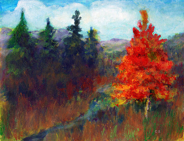 Painting - Fall Day by C Sitton