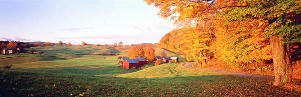 Vt Wall Art - Photograph - Fall Farm Vt Usa by Panoramic Images