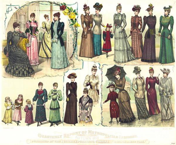 Wall Art - Photograph - Fall Fashions 1891 by Padre Art
