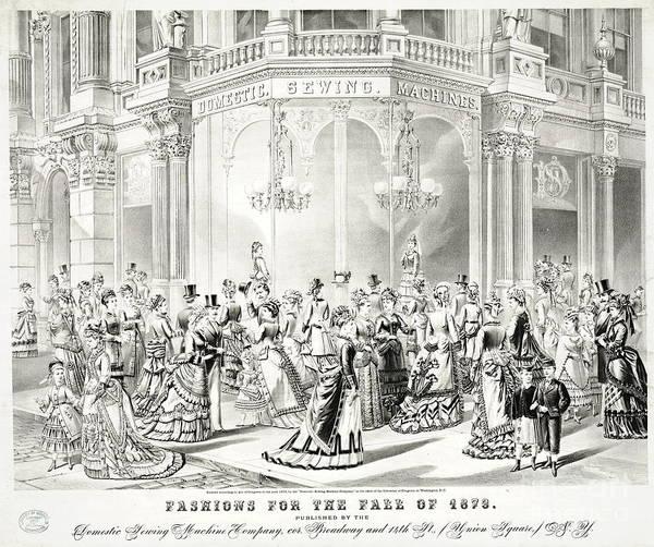 Wall Art - Photograph - Fall Fashions Ad 1873 by Padre Art