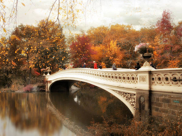 Photograph - Fall Finale At Bow Bridge by Jessica Jenney