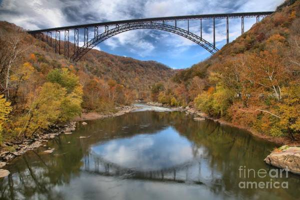 Photograph - Fall Foliage At New River Gorge Bridge by Adam Jewell