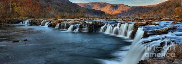 Photograph - Fall Foliage At Sandstone Falls West Virginia by Adam Jewell