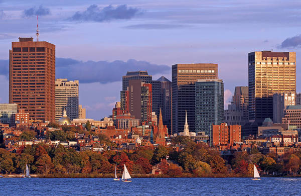 Photograph - Fall Foliage Colors Across Boston Beacon Hill by Juergen Roth