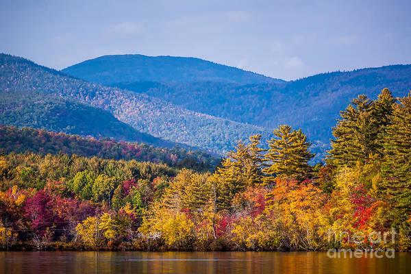 Photograph - Fall Foliage On Kezar Lake by Susan Cole Kelly