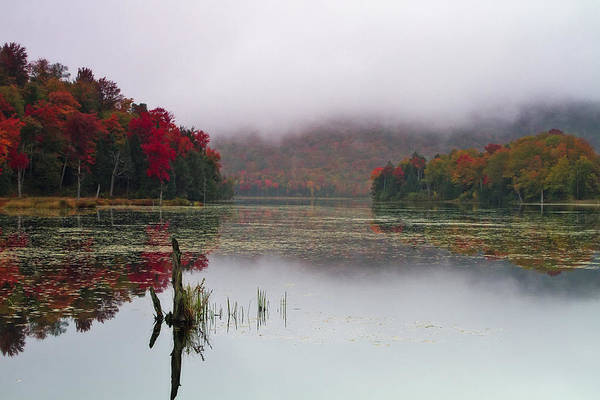 Photograph - Fall Foliage Reflections In Northern Vermont by John Vose