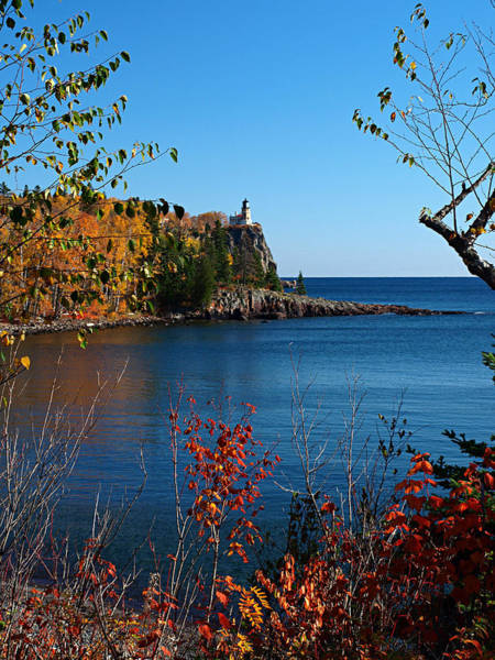 Photograph - Fall For Split Rock Lighthouse by James Peterson