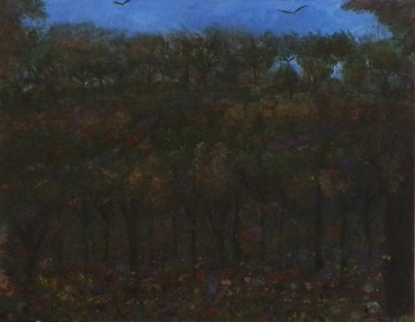 Ione Painting - Fall Forest by Ione Hedges