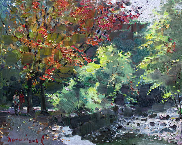 Wall Art - Painting - Fall In Mississauga Park by Ylli Haruni