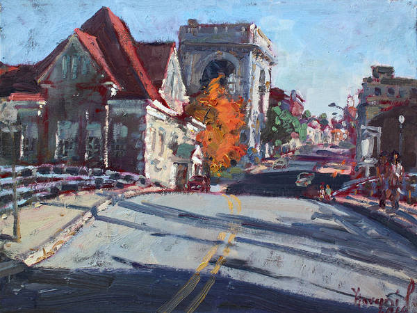 Fall In Town Of Lockport Art Print