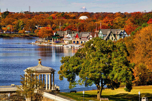 Photograph - Fall On Boathouse Row by Alice Gipson
