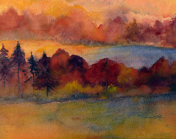 Wall Art - Painting - Fall On Lake Champlain by Peggy Maunsell