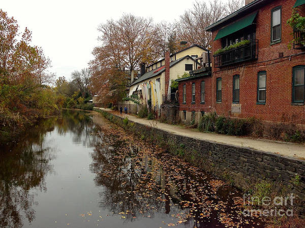Fall On The Canal Art Print