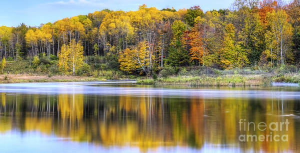 Manistee Photograph - Fall On The Manistee River by Twenty Two North Photography