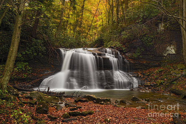 Photograph - Fall Photo Of Upper Waterfall On Holly River by Dan Friend