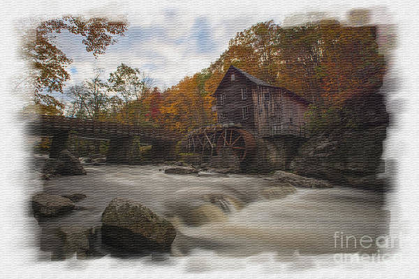 Photograph - Fall Picture Of Grist Mill From Across Glade Creek by Dan Friend