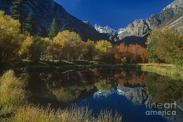 Photograph - Fall Reflecting Pond Middle Palisades Glacier Eastern Sierras by Dave Welling