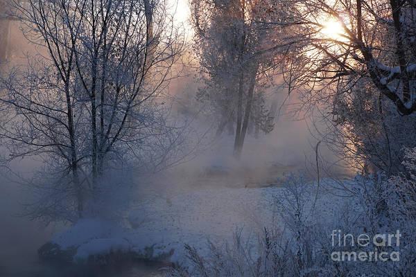 Fall River Steam Art Print