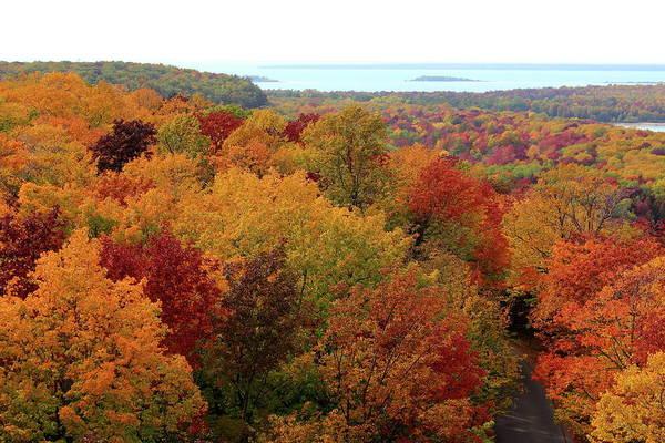 Franklin Park Photograph - Fall Scene, Potawatomi State Park, Wi by Christopher J Franklin Photography