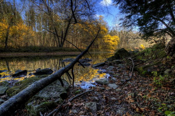 Photograph - Fall Scenery On The River by David Dufresne