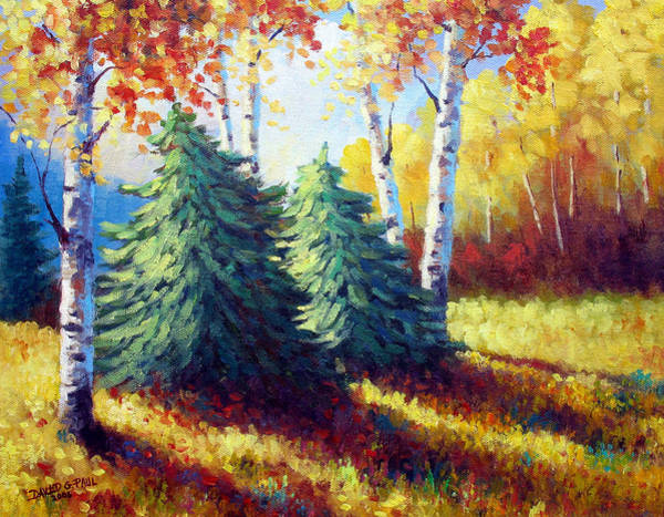 Wall Art - Painting - Fall Shadows by David G Paul