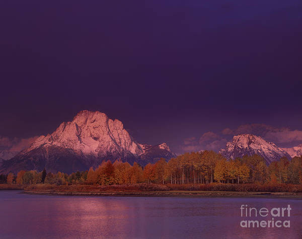 Photograph - Fall Sunrise At Oxbow Bend Grand Tetons National Park by Dave Welling
