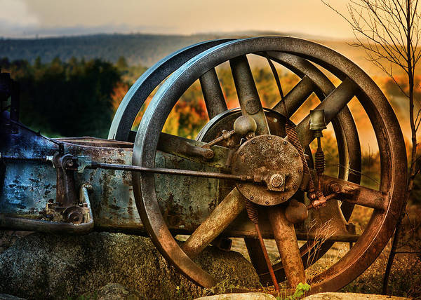 Steam Engine Photograph - Fall Through The Wheels by Susan Capuano