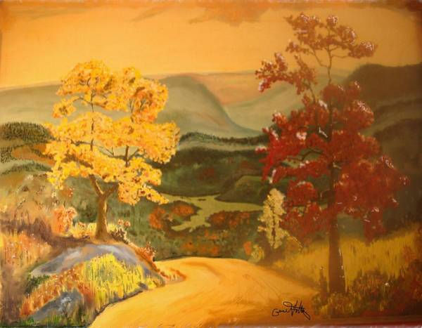 Painting - Fall Valley by Eugene Foltuz