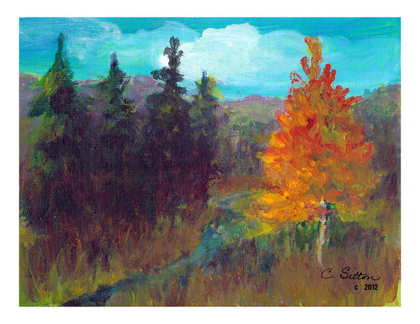 Painting - Fall View by C Sitton