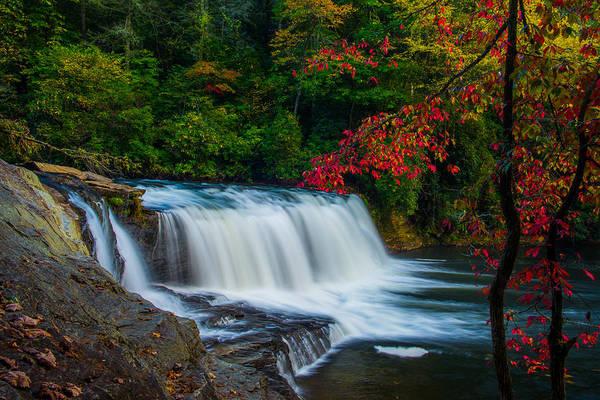 Fall Waterfall Art Print by Griffeys Sunshine Photography