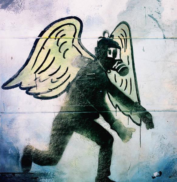 Gasmask Photograph - Fallen Angel .. by A Rey