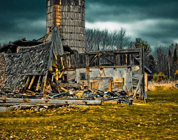 Photograph - Fallen Barn by Maggy Marsh