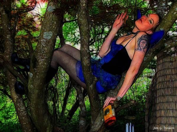 Painting - Fallen Fairy by Jon Volden
