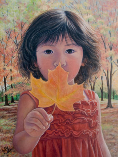 Chinese Girl Wall Art - Painting - Fallen For You by Holly Kallie