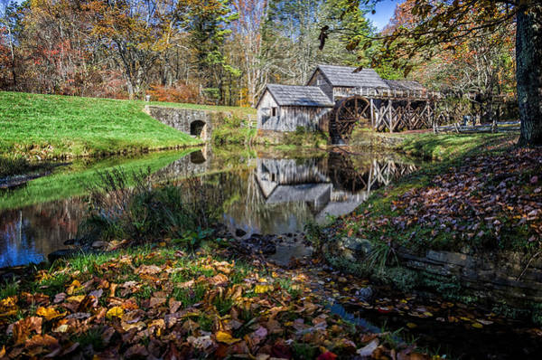 Wall Art - Photograph - Fallen Leaves At Mabry Mill by Lori Coleman