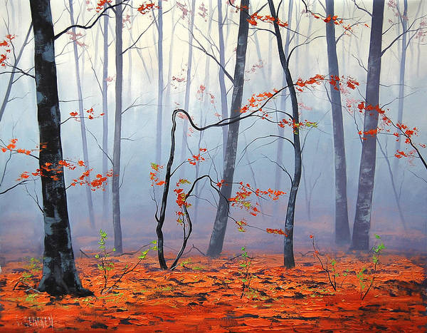 Vibrant Color Painting - Fallen Leaves by Graham Gercken