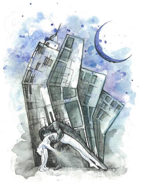 Crescent City Mixed Media - Fallen Moon by Katie Herron