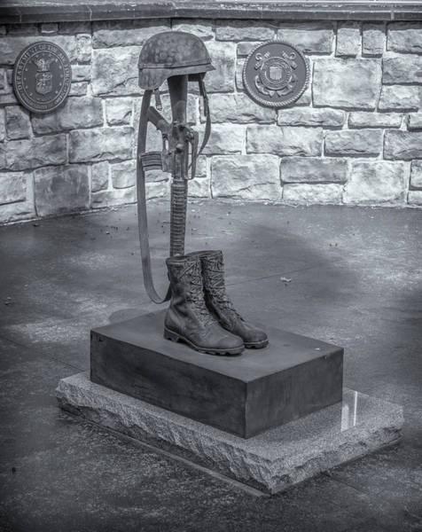 Photograph - Fallen Soldier Battle Cross by Guy Whiteley
