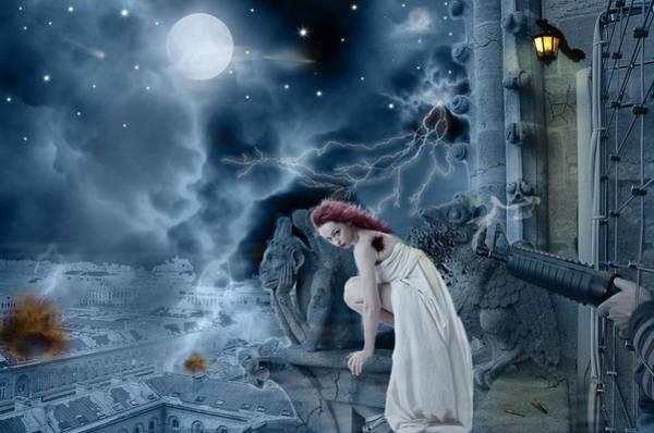 Gargoyle Digital Art - Fallen World by Becca Buecher
