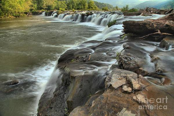 Photograph - Falling Across The New River by Adam Jewell