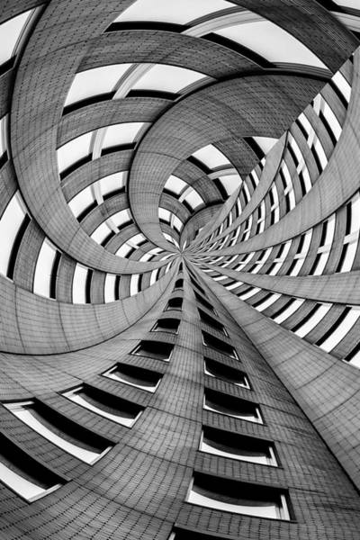Black And White Abstract Photograph - Falling Into by Az Jackson